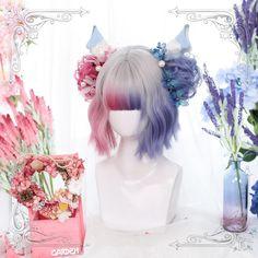 Lolita Cosplay, Cosplay Hair, Cosplay Wigs, Pelo Lolita, Lolita Hair, Kawaii Hairstyles, Pretty Hairstyles, Wig Hairstyles, Kawaii Wigs