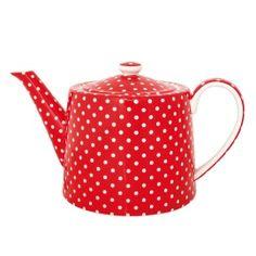 teapot / GreenGate Teekanne Spot Red  / nostalgie im kinderzimmer / €42.50