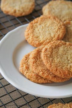 Plain almond cookies. Simple, flavorful and so chewy!