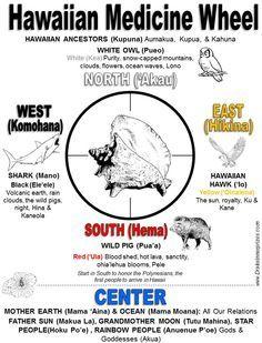 Hawaiian Medicine Wheel by Two Spirit Shamanism.kinda hapa (combination Hawaiian and American Indian, looks like) Hawaiian Mythology, Native American Medicine Wheel, Two Spirit, Drake, Wheel Of Life, Native Indian, Book Of Shadows, Nativity, Healing