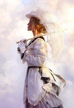 Lace Parasol ...Victorian Romance