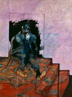 FRANCIS BACON  Untitled [Seated Figure on a Dappled Carpet] 1971  Oil on canvas  198 x 147 cm  Dublin City Gallery