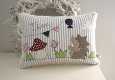 Pillow hedgehog name pillow cuddle pillow Applique Pillows, Throw Pillows, Hedgehog Names, Sewing Material, Delicate Wash, Cuddling, Couture, Etsy, Quilts