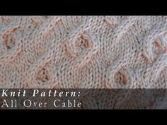Aster Stitch  |  Knit  |  Slipped Stitches - YouTube