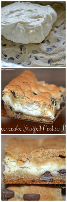 Chocolate Chip cheesecake Stuffed Cookie bars