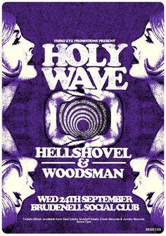 or8 design - holy wave gig poster