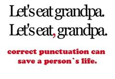 Ah, the comma . . .