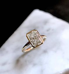 Minda's Ideas: Fancy Accessories Ideas to Get You Through the Long Season in Style 2019 Radiant Engagement Rings, Wedding Engagement, Wedding Rings, Radiant Cut Diamond, Diamond Cuts, Diamond Rings, Gold Pearl Necklace, Jewelery, Fine Jewelry