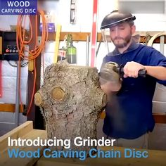 This Carving Chain Disc takes the muscle work out of cutting, carving, removing and sculpting of wood, plastics, ice and hard rubber with its speed and man Woodworking Hand Tools, Woodworking Projects Diy, Diy Wood Projects, Woodworking Plans, Wood Crafts, Carpentry Tools, Boat Projects, Power Carving Tools, Wood Carving Tools