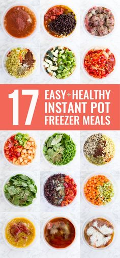 17 Easy and Healthy Instant Pot Freezer Meals Do you want to simplify your dinner routine? Stock your freezer with Instant Pot freezer meals! Here are 17 easy and healthy Instant Pot freezer meals that I made myself (shopping list included! Healthy Freezer Meals, Dump Meals, Make Ahead Meals, Freezer Cooking, Easy Healthy Recipes, Healthy Cooking, Easy Meals, Crockpot Meals, Healthy Eating