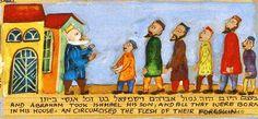 Lech Lecha Torah Portion Limited Edition Giclée Painting by Michal Meron