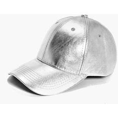 Boohoo Sarah Metallic Baseball Cap ($14) ❤ liked on Polyvore featuring accessories, hats, silver, metallic hat, fedora baseball cap, snood hat, baseball hats and ball cap