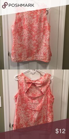 ☀️ Summer Sale! ☀️ Coral & white cotton top Pretty print, light and breezy top. Small back cut-out. Looks so summery with white jeans! Also works well under a blazer. Fits US size 16 Dorothy Perkins Tops Blouses