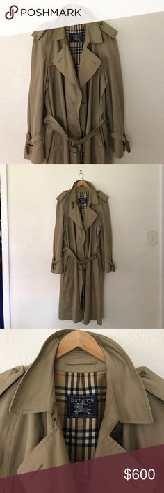 Burberry nova check khaki trenchcoat Classic trench coat in the extra-large. Unisex. And fabulous used condition. A few markings but lining is beautiful and perfect. Burberry Jackets & Coats Trench Coats