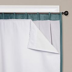 Transform any set of curtains into blackout drapes with the SmartBlock Blackout Curtain Liner. The thick, polyester weave reduces light entering your home. The fabric also absorbs noise and insulates against heat and cold to increase energy efficiency. Kids Curtains, Cool Curtains, White Curtains, Window Curtains, Bedroom Curtains, Diy Curtians, Beach Curtains, Unique Curtains, Bay Window