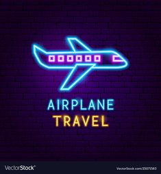 Airplane travel neon label vector image on VectorStock Cute Black Wallpaper, Emoji Wallpaper, Cute Wallpaper Backgrounds, Pretty Wallpapers, Wallpaper Quotes, Neon Aesthetic, Aesthetic Words, Aesthetic Pictures, Nixie Tube