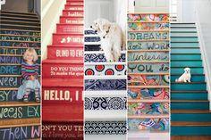 Cinco originales formas de decorar tu escalera School Decorations, Blinds, Thinking Of You, Interior Decorating, Sweet Home, Creations, Photo Wall, Arts And Crafts, Make It Yourself