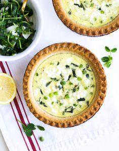 english pea & goat cheese quiches   www.makingthymeforhealth.com