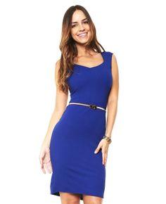 Vestido Azul sin Mangas Aspik Azul | ösom