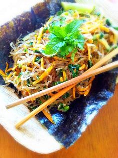 Asian Kelp Noodles (Gluten-Free, Paleo, Vegan) - I have a pkg of kelp noodles from Whole Foods I forgot all about. This sounds good, think I'll use some shredded cabbage and kale for the greens.