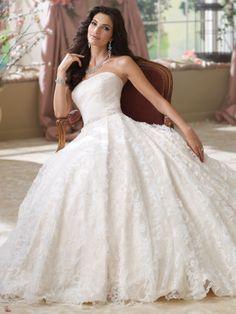satin ball gown wedding dress