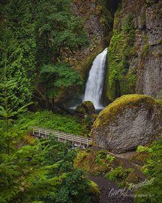 Gary Randall -Wahclella Walkway  Wahclella Falls inthe Columbia River Gorge, Oregon.