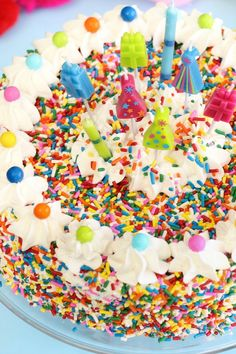 @Heather Creswell Baird | sprinklebakes shares a cereal treat cake that's party-ready!