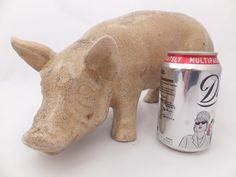 Original pottery butchers shop pig prop, C1920/30