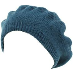 Amazon.com: Solid Soft Beret Tam Tight 2ply Knit Winter Hat Teal Blue: Clothing