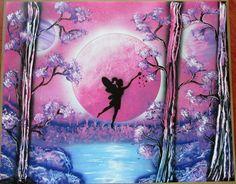 fairy painting fairy spray paint art fairy gift kids room decor girls room gift by FloralFantasyDreams Spray Paint Artwork, Gloss Spray Paint, Spray Painting, Kids Room Paint, Kids Rooms, Superhero Wall Art, Fairy Paintings, Fairy Gifts, Fairy Pictures