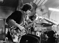 Photo of Jack BRUCE and CREAM; Jack Bruce & Ginger Baker performing live, shooting the film 'It was a Saturday Night', playing Fender Bass VI guitar