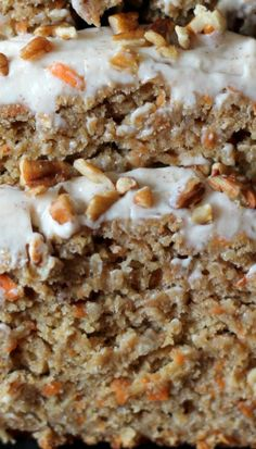 Carrot Cake Banana Bread with Thick Cinnamon Cream Cheese Frosting ~ An incredibly moist Carrot Cake Banana Bread made healthy with whole wheat flour and applesauce instead of lots of butter or oil. Don't forget the low-fat cream cheese frosting — it's to die for!
