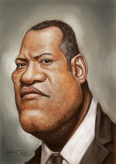 LAURENCE FISHBURNE #Caricature #FunnyFaces