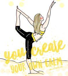 You create your own calm #zen
