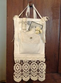 Individual treasure pocket  ~ The Feathered Nest ~: Forgotten lace, old buttons and humble fabrics ~
