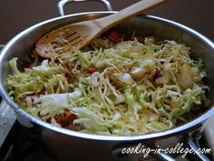 Fried Cabbage with bacon and onions. Made this tonight. We LOVED it!! Practically fought over the leftovers and so easy.