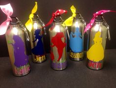 Personalized Disney Princess Inspired Wedding Water Bottle Set of 8 on Etsy, $73.30 CAD