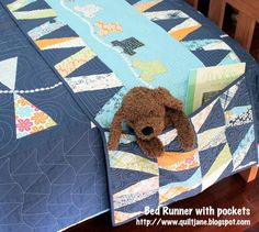 Moda Bake Shop: Children's Bed Runner & Matching Quilt - I'd love to make these for the kids. Bed Runner, Quilt Baby, Quilt Bedding, Bedding Sets, Quilting Tutorials, Quilting Projects, Sewing Projects, Casa Kids, Patch Aplique
