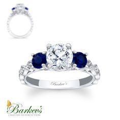 Sapphire & Diamond Engagement Ring! 7973LBSW
