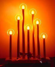 Vintage Noma Halo Candolier 7 light Christmas Candles Large Window Candelabra