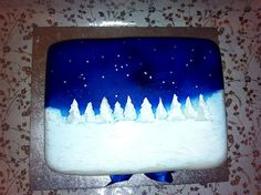 """Starry Christmas Night"" cake"