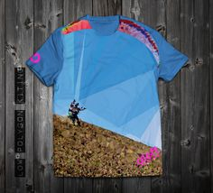"www.aloft.clothing ""Low Polygon Kiting"" men's t-shirt, paragliding brand, casual line Like our page: https://www.facebook.com/AloftBoundaryLayerApparel"
