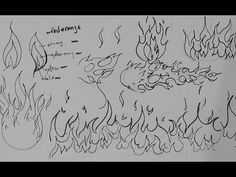 Pen and Ink Drawing Tutorials | How to draw fire, flames, and fireballs
