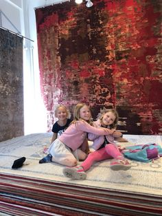 Here is a cute picture to help everyone start their Monday! These lovely little girls visited our showroom with their parents, parents are still not sure if they helped pick rugs or just made our showroom messier😂😂 . Oriental Carpet, Oriental Rug, Contemporary Rugs, Modern Rugs, Rugs On Carpet, Carpets, 4th Street, Tribal Rug, Rug Making