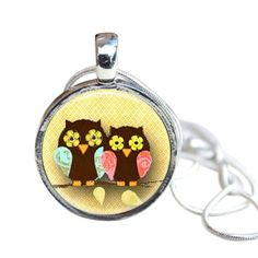 Owls. #necklaces #jewelry   9thelm.com