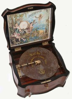 forgottenantiquities: Polyphon music box, ca. I collect music boxes. Antique Toys, Vintage Antiques, Vintage Items, Radios, Antique Music Box, Vintage Music Boxes, Music Jewelry, Record Players, Phonograph