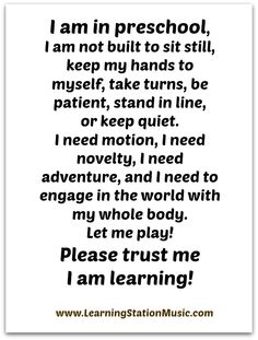 The value of play and learning! Join us for more inspiring quotes at: https://www.facebook.com/LearningStationMusic