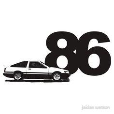 AE86 black and white