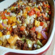 Taco fiesta bubble up casserole - weight watchers recipes