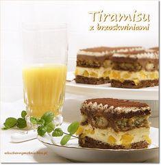 ciasto tiramisu z brzoskwiniami